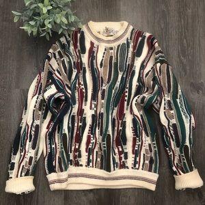 Sweaters - Vntg funky grandpa sweater🌼